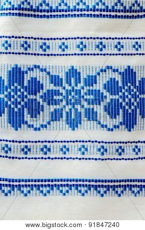 Traditional Ornament On The Belorussian Towel
