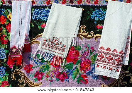 Belorussian Towels With Vintage Ornament