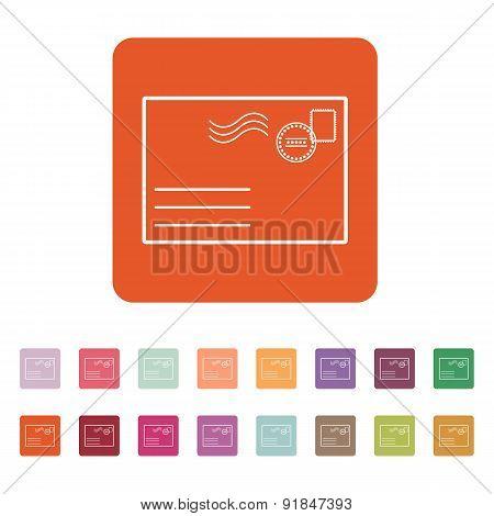 The Envelope Icon. Mail Symbol