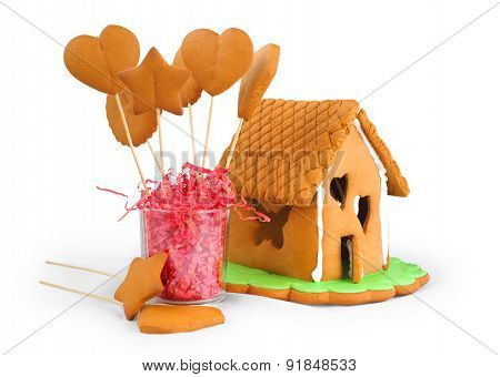 Gingerbread House And Gingerbread