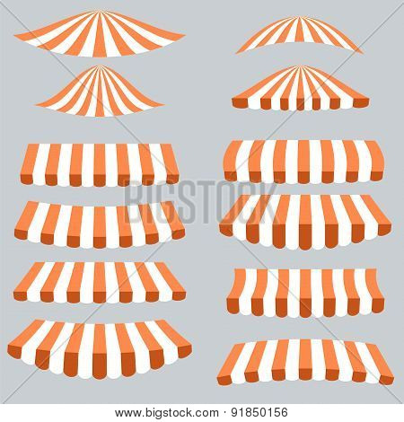 Orange White Tents