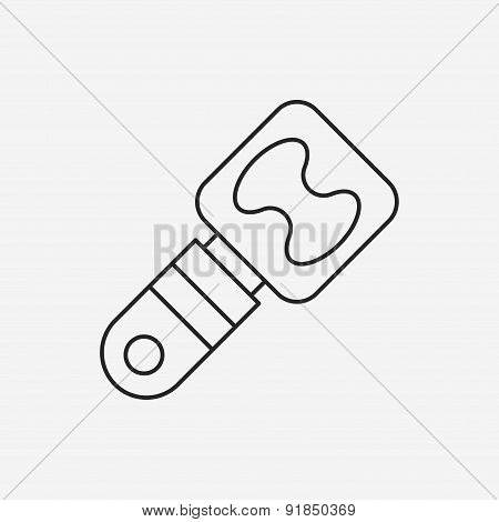 Bottle Opener Line Icon