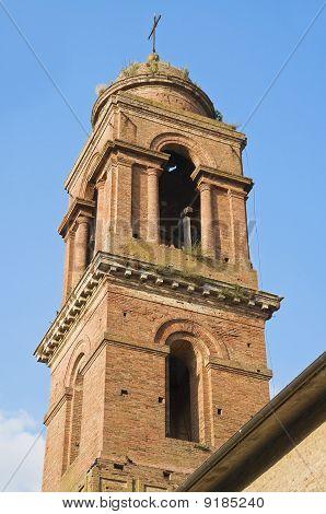 St. Maria dei Servi Belltower Church. Citta' della Pieve. Umbria.