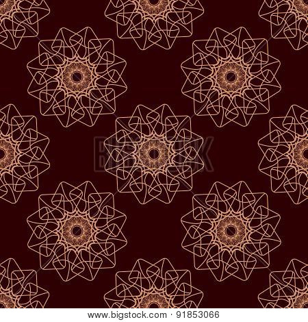 Lineart Ornamental Geometric Floral Pattern
