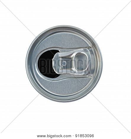 Open Drink Can Topview Isolate With Clipping Path