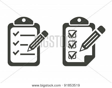 Clipboard Pencil Icons