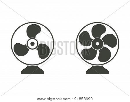 Electric Fan Icons