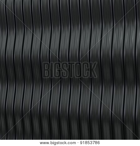 Abstract Metallic Background With Wavy Structure. 3D Render.