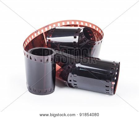 Photographic Film Strip Isolated On White Background