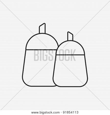 Sauce Bottle Line Icon