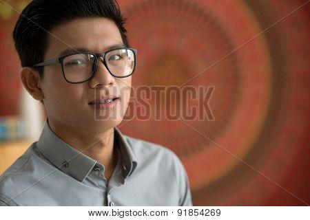 Smiling Vietnamese man