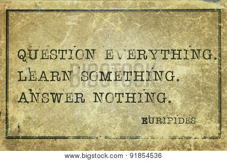 Question Euripides