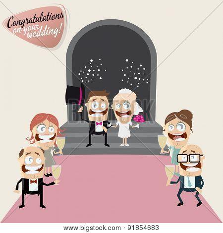 funny cartoon wedding