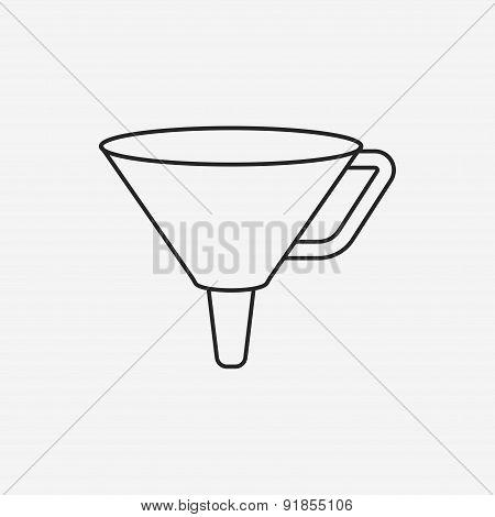 Funnel Line Icon