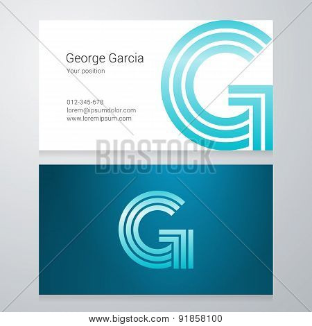 Letter G Business Card Template