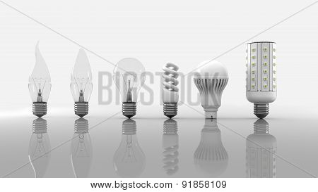 Bulbs Evolution