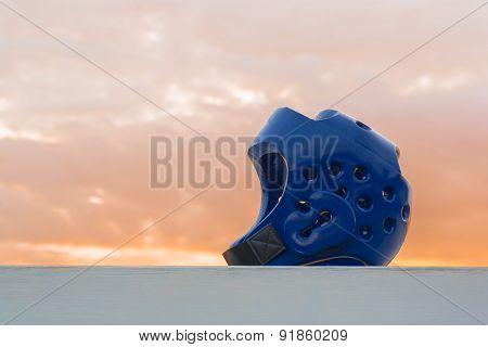 Blue Taekwondo head guard