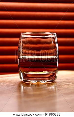 Alcoholic drink on a table