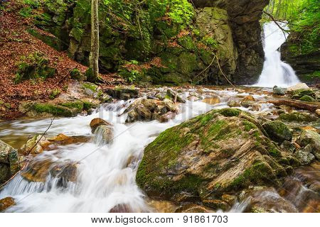 The White Water Waterfall In Balkan Mountains, Bulgaria