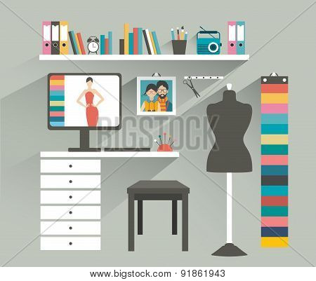 Fashion Designer Office.