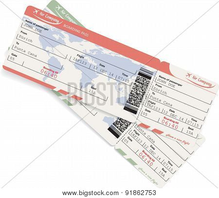 Pattern of airline boarding pass ticket