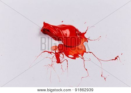 Red Stroke Of The Paint Brush