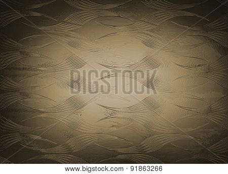 Bronze Golden Liquid Metal Effect Ornament Background. Illustration For Web Wallpaper