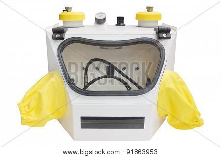 Sandblasting dental apparatus isolated under the white background
