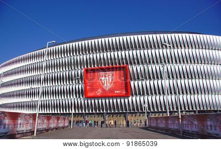 Bilbao, Spain - May 28, 2015: General view of San Mames football stadium