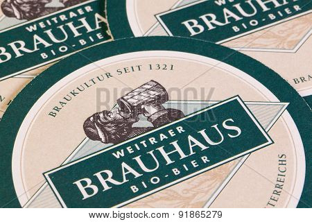 Beermats From Brauhaus Bio Beer.