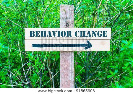 Behavior Change Directional Sign