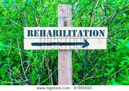 Rehabilitation Directional Sign