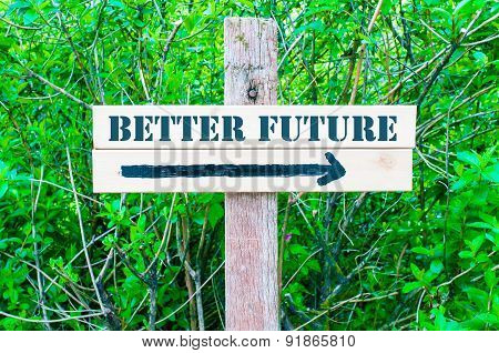 Better Future Directional Sign