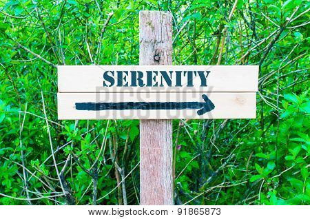 Serenity Directional Sign