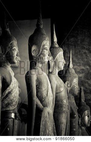 Image Of Buddha In Vat Visounnarath, Lunag Prabang, Laos.