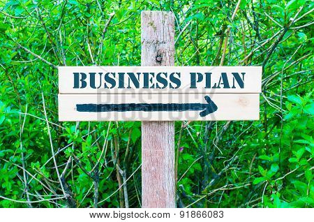 Business Plan Directional Sign