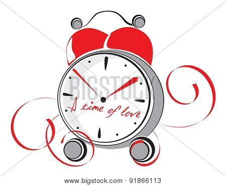 A time of love. Vector illustration