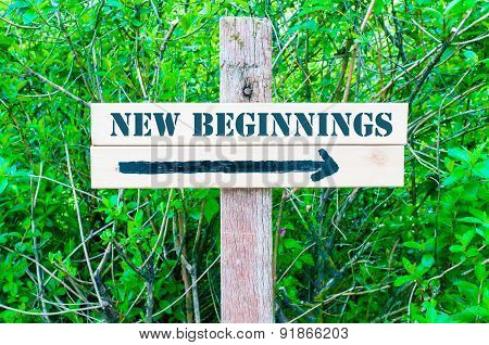 New Beginnings Directional Sign