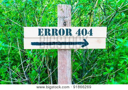 Error 404 Directional Sign