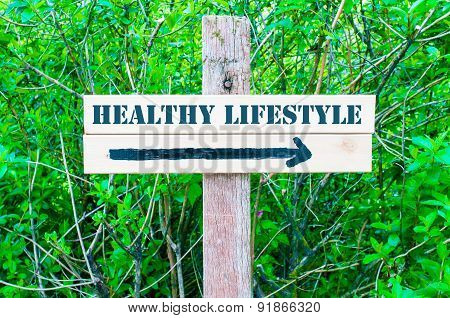 Healthy Lifestyle Directional Sign