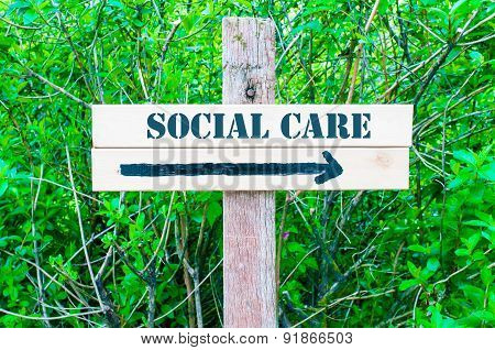 Social Care Directional Sign