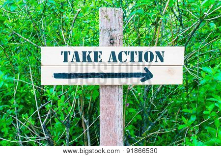 Take Action Directional Sign