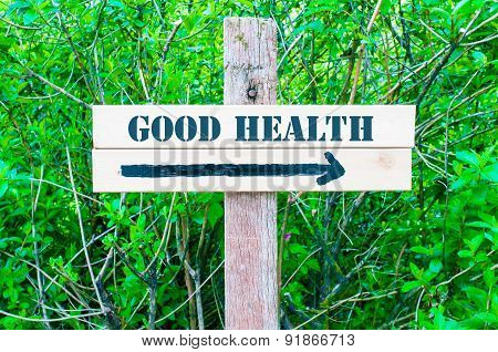 Good Health Directional Sign