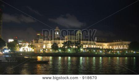 Singapura durante a noite
