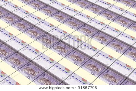 Malaysian ringgit stacks background.