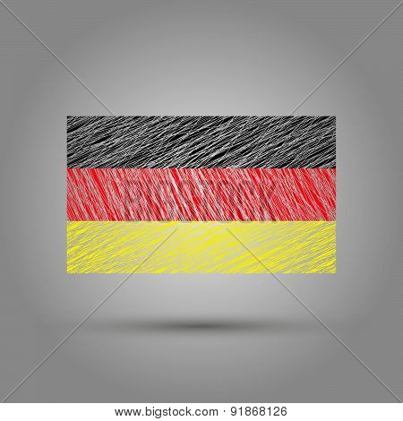 Flag of Germany. Light grunge effect.