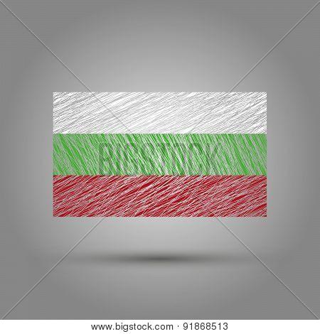 Flag of Bulgaria. Light grunge effect.