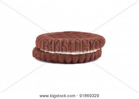 Creamy Brown Sandwich Biscuit