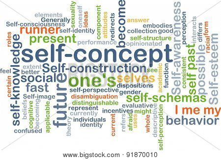 Background concept wordcloud illustration of self-concept