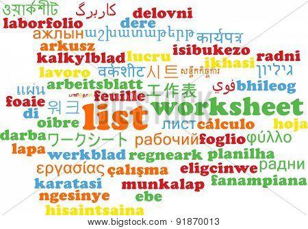 Background concept wordcloud multilanguage international many language illustration of list
